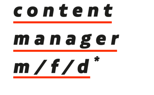content manager (m/f/d)*