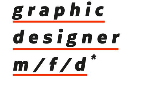 graphic designer (m/f/d)*