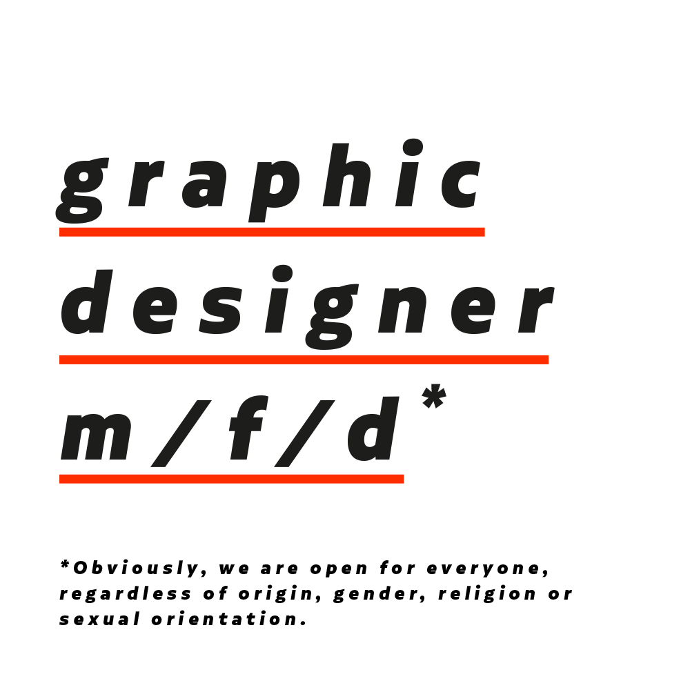 graphic designer (m/f/d)*