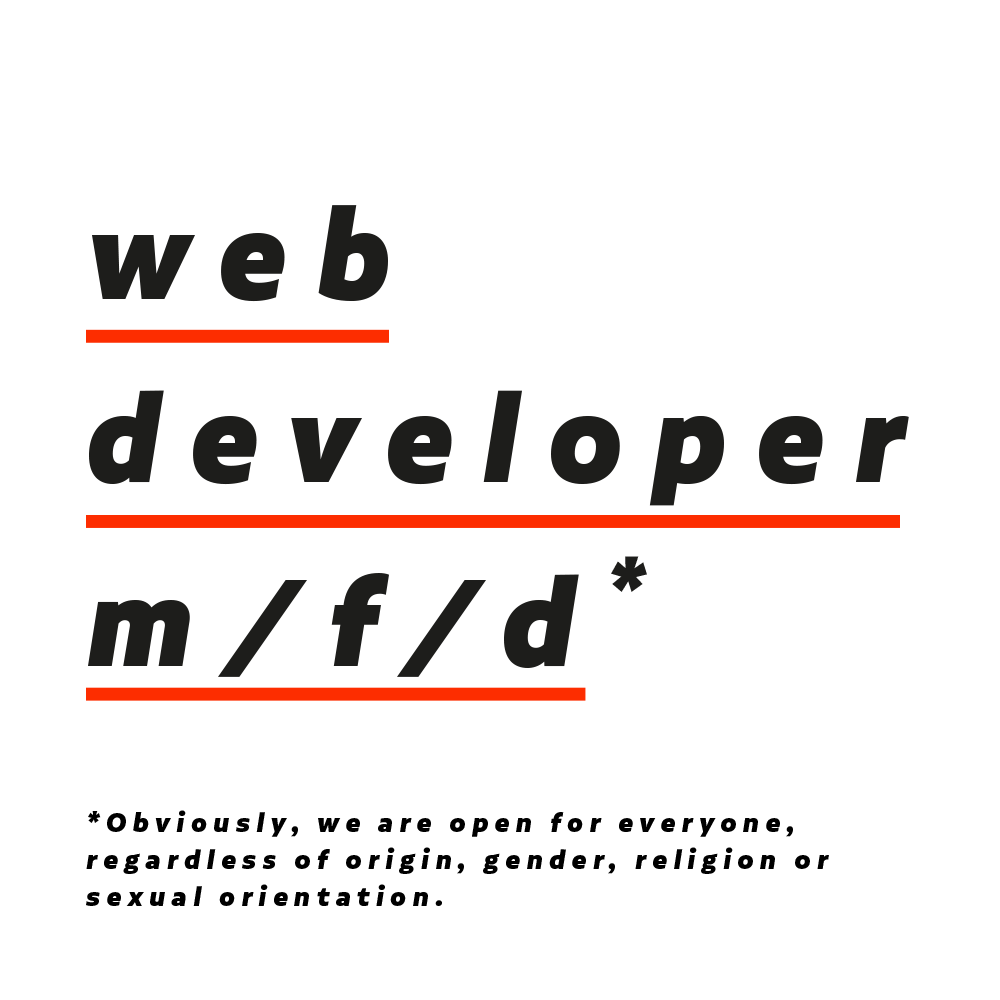 web developer (m/f/d)*